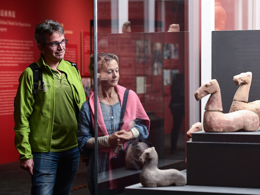 Artifacts on display after repatriation from Italy