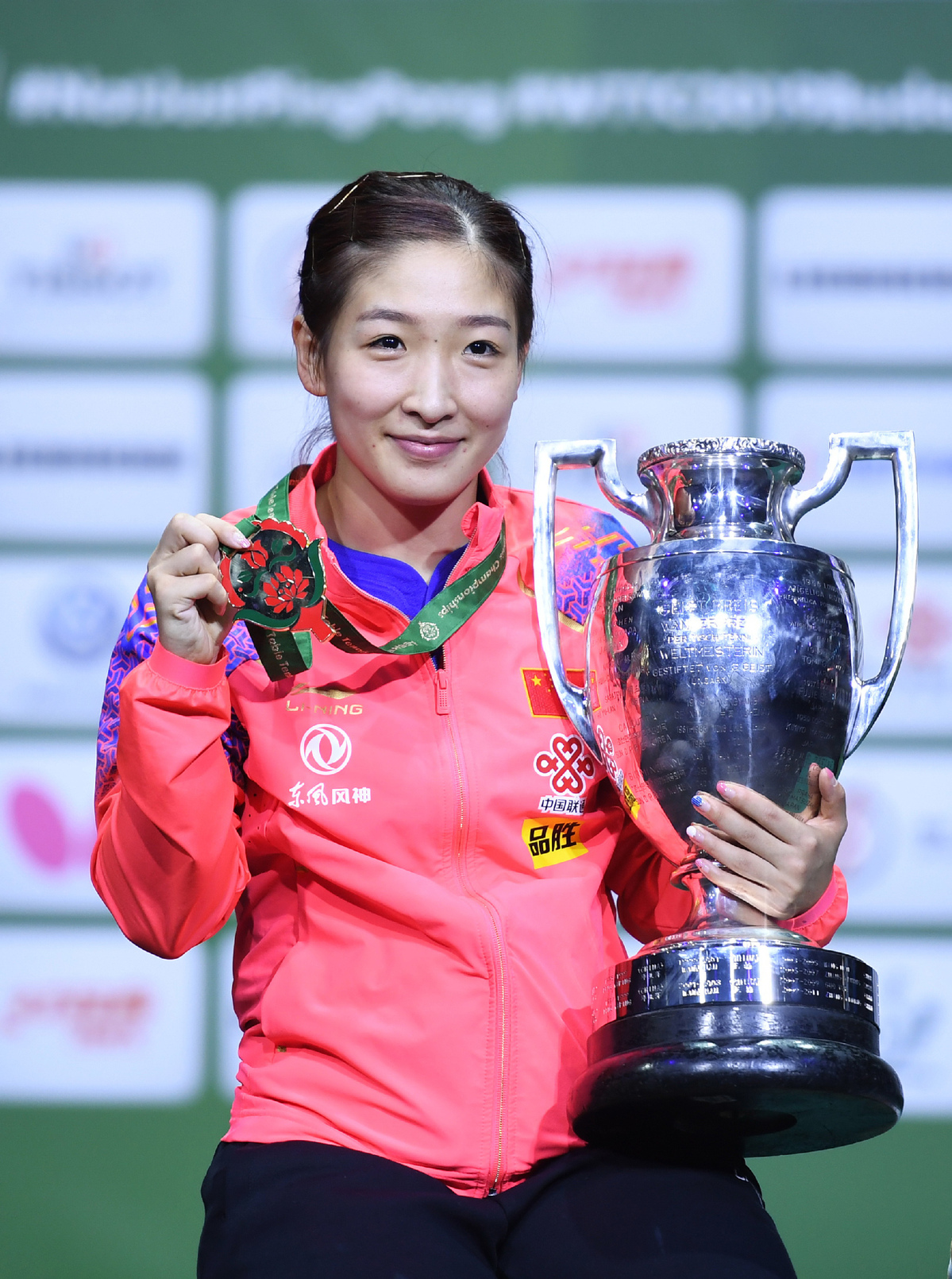 Fired-up Liu wins second gold in table tennis worlds