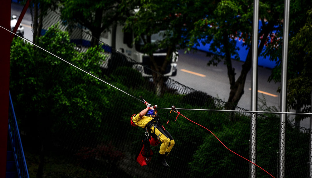 Chongqing hosts 1st national race for volunteer rescue teams