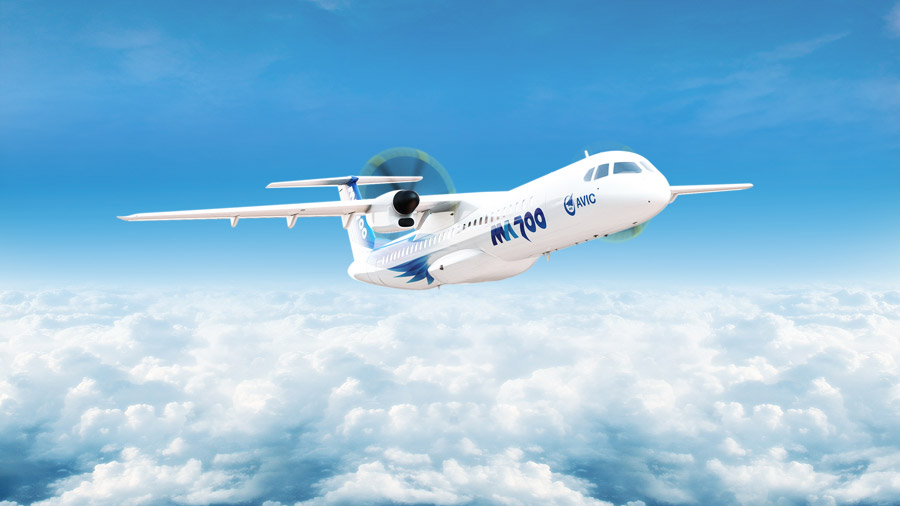 Large parts delivery of China's MA700 turboprop aircraft