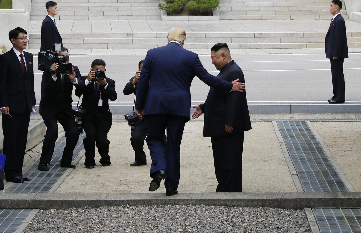 'Brilliant statesman' Trump displays courage in visit to North Korea
