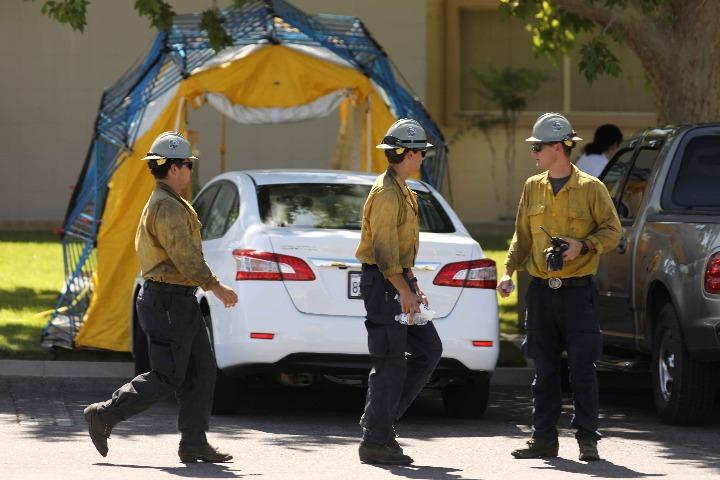 Aftershocks following Southern California earthquake - World