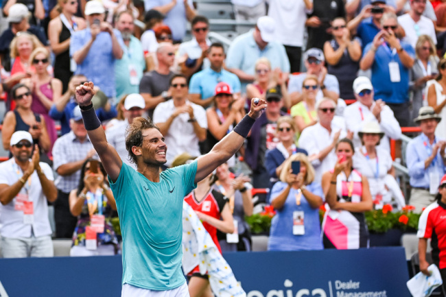 Rafael Nadal Wins 5th Roger Cup Title Beating Medvedev Chinadaily Com Cn