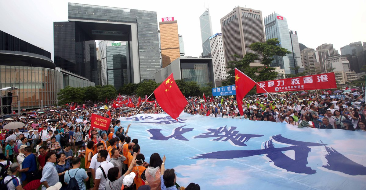 476,000 show up at HK park to back police - Chinadaily.com.cn