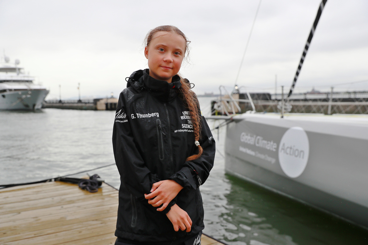 Greta Thunberg joins climate protest outside United Nations HQ