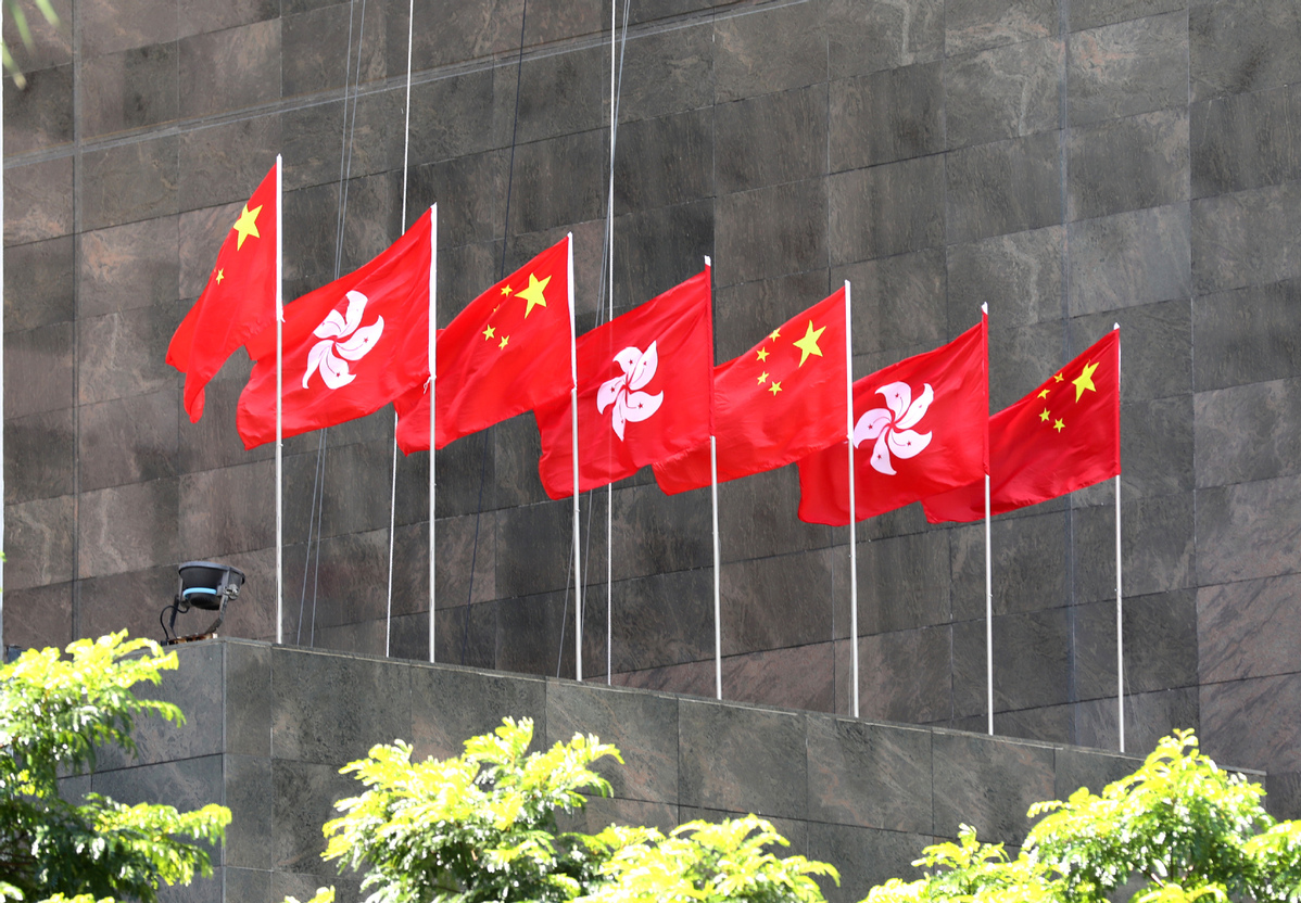 HK demonstrators banging their heads on a brick wall: China