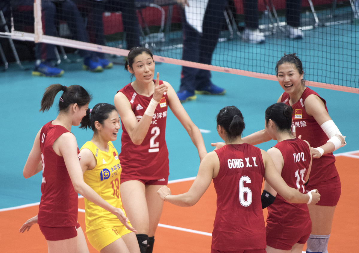 China beat Cameroon over 3-0 at Women's V-ball World Cup - Chinadaily.com.cn