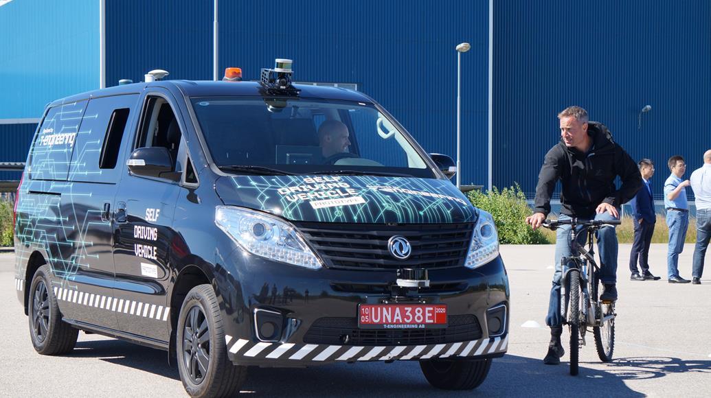Testfahrzeug T Engineering AB in Schweden