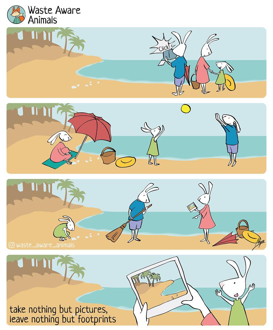 """环保漫画:践行""""零浪费生活""""的"""