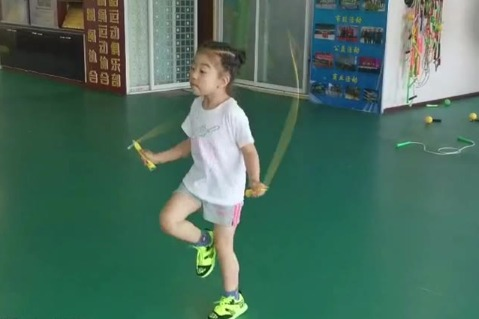 Jump-rope whiz kid just 4 years old - Chinadaily.com.cn