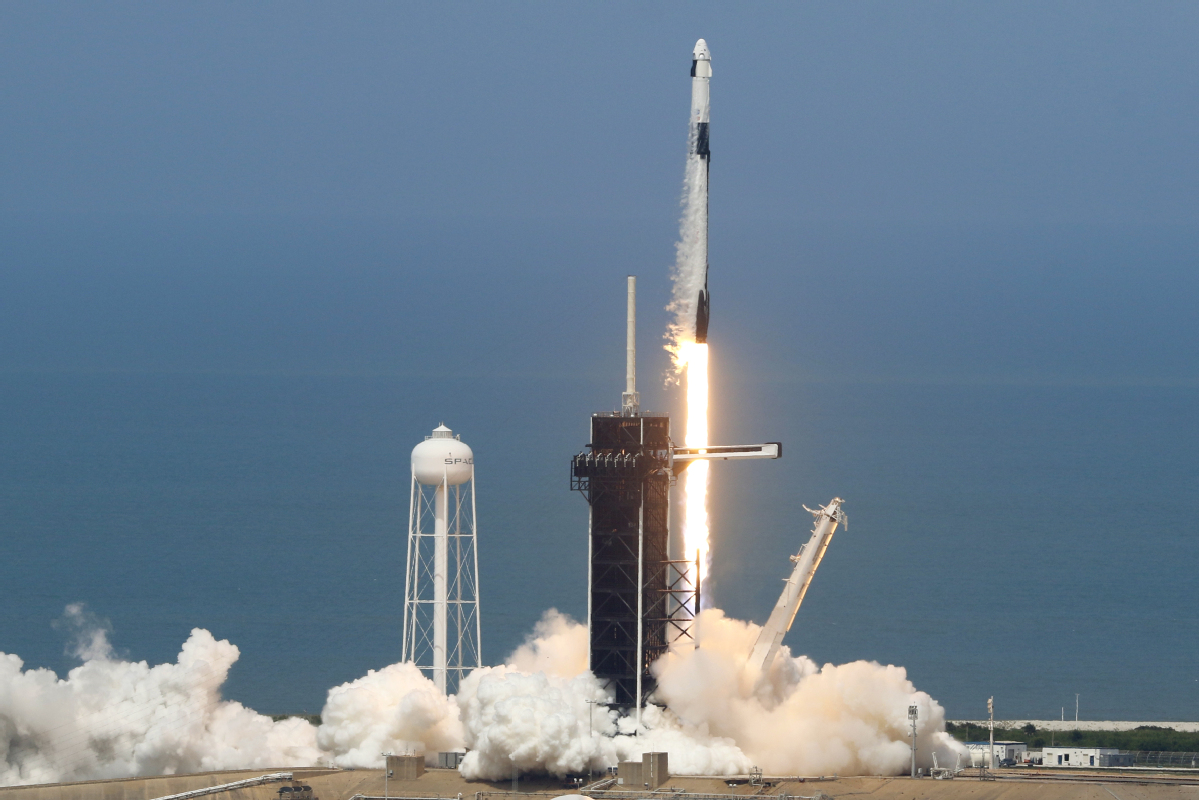 SpaceX Astronauts Dock with International Space Station