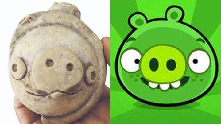 Pottery pig that looks like green piggies in 'Angry Birds' movie thrills netizens