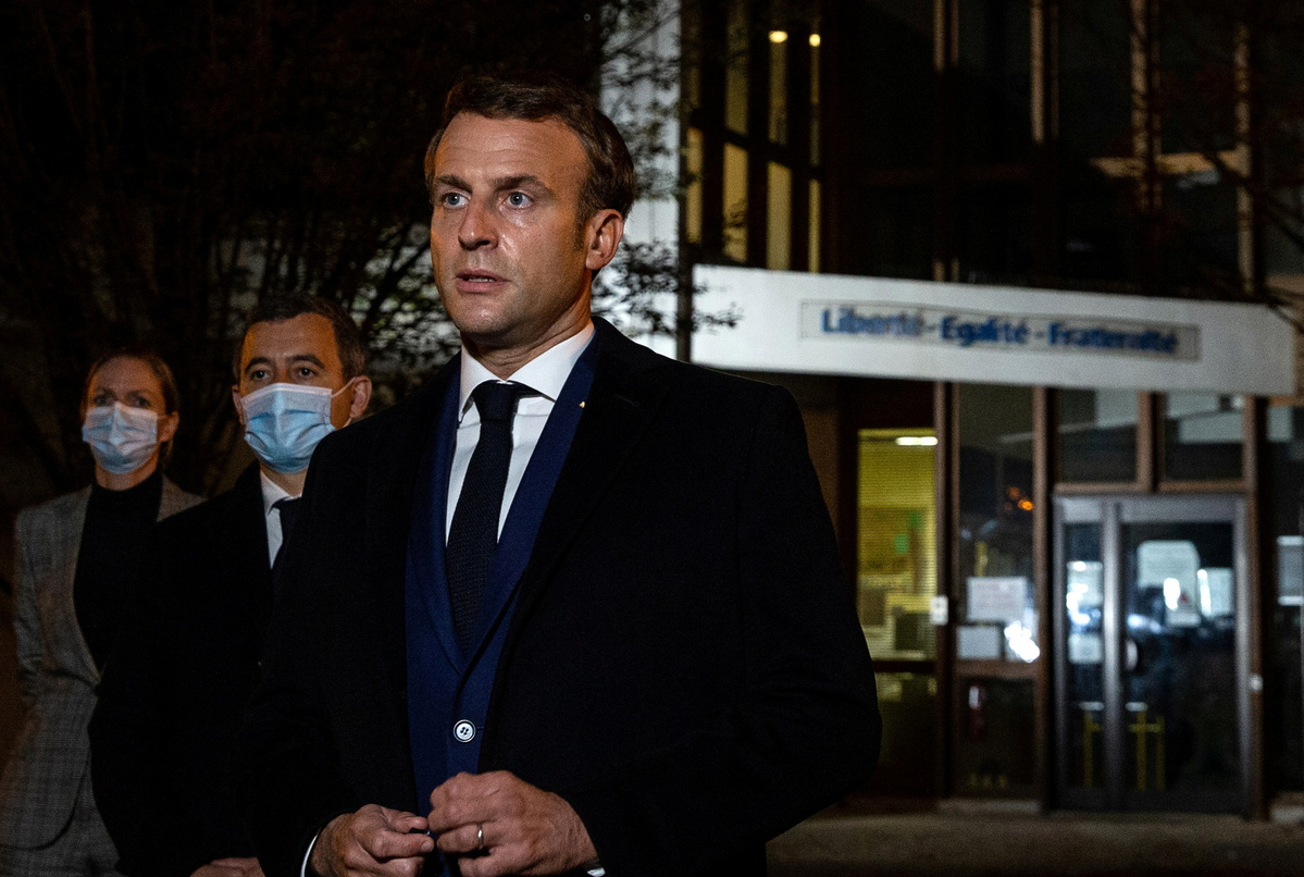 Macron condemns 'Islamic terrorist attack' in Paris suburb