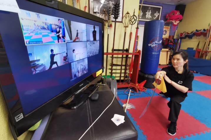 Kung fu master helps students kick the blues