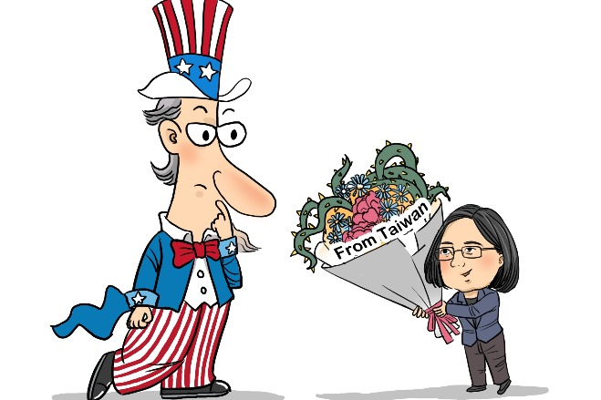 Tsai's efforts to deepen US ties will fail
