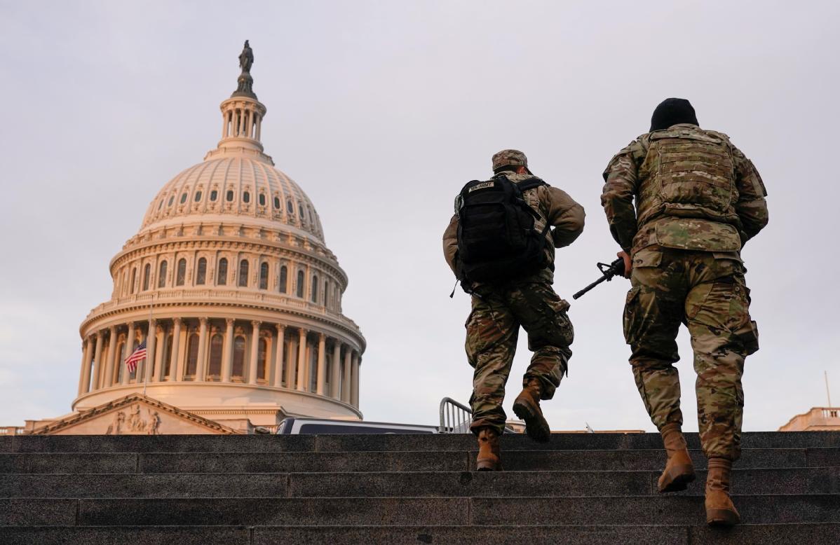US FBI screens troops ahead of Biden inauguration