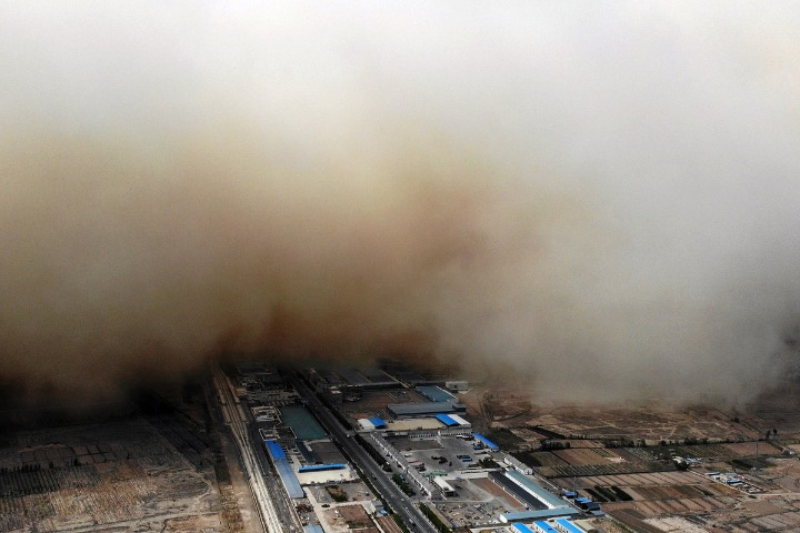 China renews blue alert for sandstorms