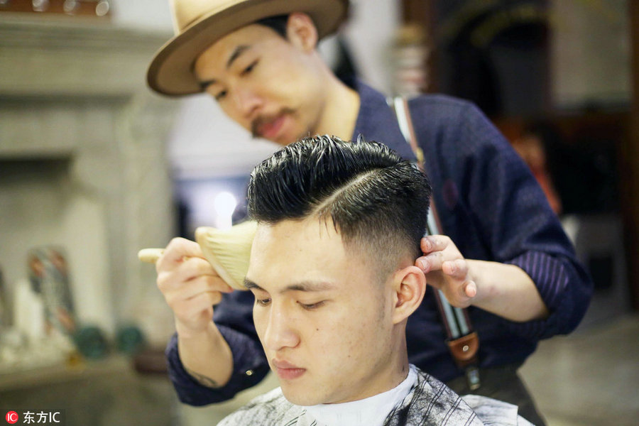 Cool Mens Retro Hairstyles Back In Fashion Chinadaily Com Cn Schematic Wiring Diagrams Amerangerunnerswayorg