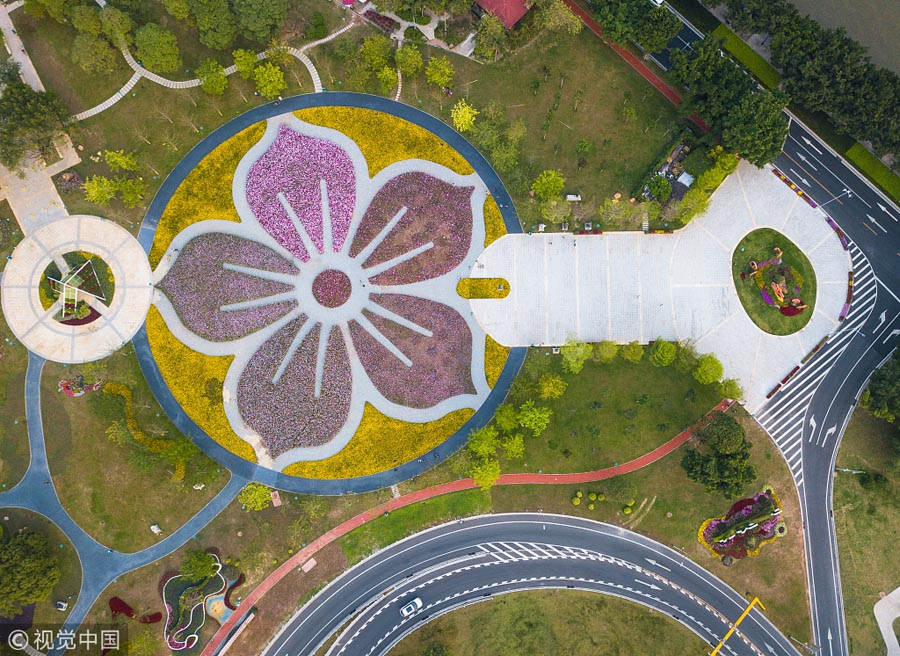 Guangzhou Flower City Blooms In