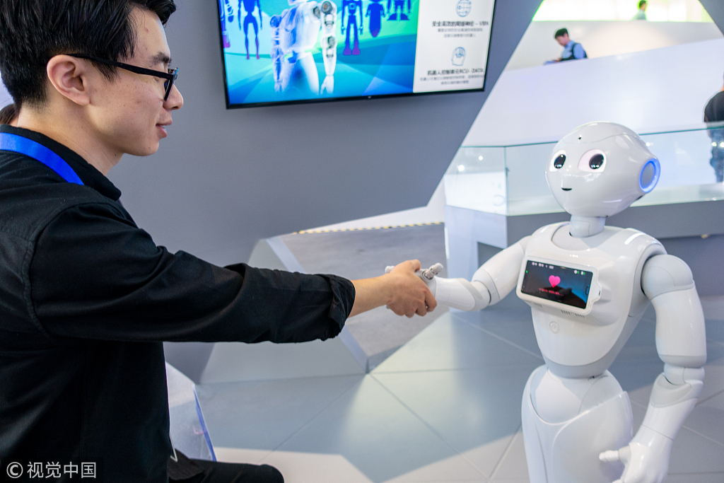 A robot with chinese