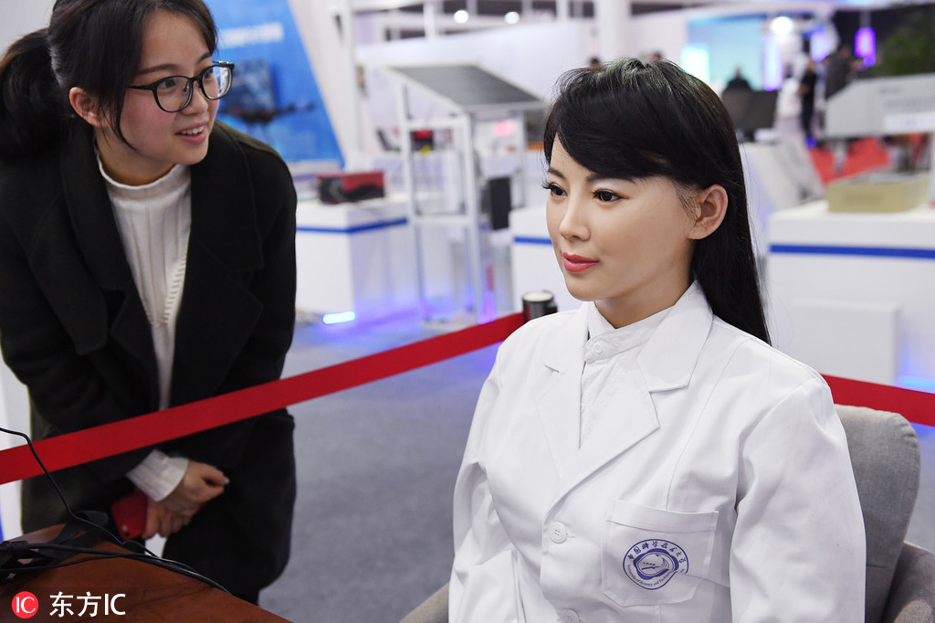 Medical robot shines at tech exhibition in Hefei - Chinadaily.com.cn