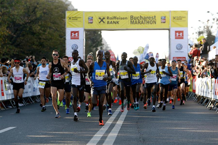 People participate in Bucharest International Marathon race - Chinadaily.com.cn
