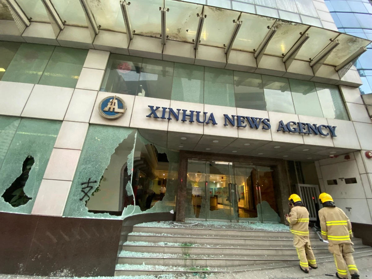 China journalists' association condemns attack on Xinhua's HK ...
