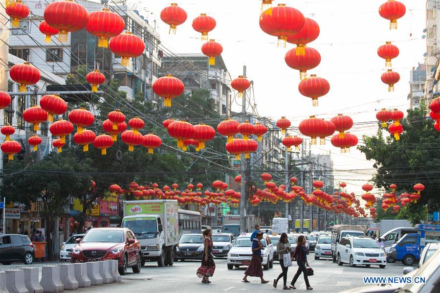 People Purchase Decorations For Upcoming Chinese Lunar New Year In Yangon Myanmar Chinadaily Com Cn