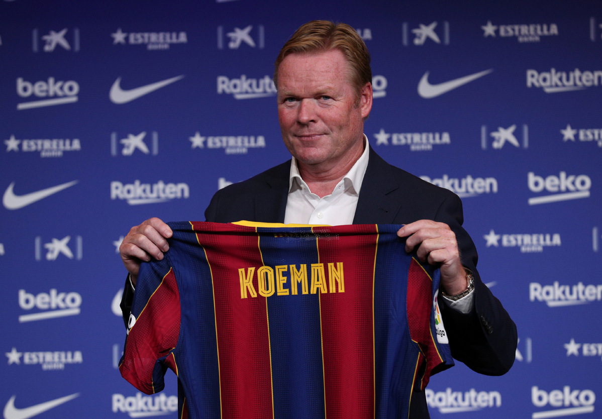 Fc Barcelona Confirm Ronald Koeman As New Coach Until June 2022 Chinadaily Com Cn