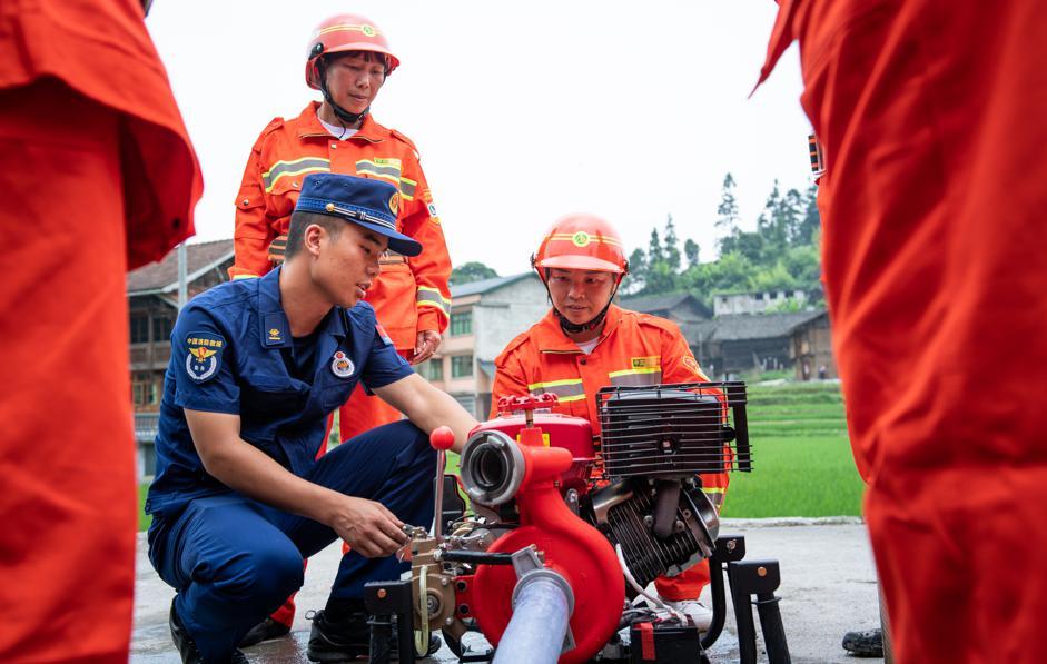 Women's Volunteer Fire Brigade Protects Guizhou Village